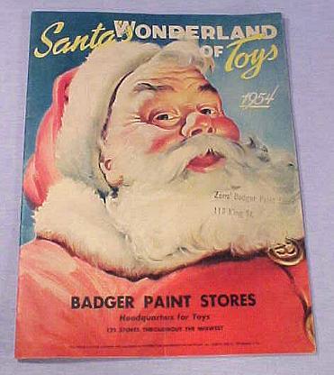 1954 santa wonderland of toys cover